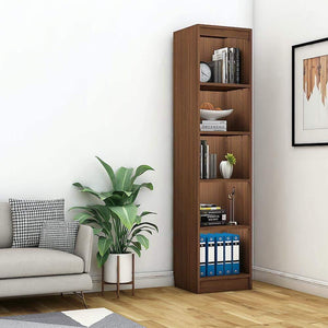 "Alpha Bookshelf & Storage Cabinet with 5 shelf, 67"" high (Tower)- Acacia Walnut *Free Installation* Bookshelf - A10 SHOP"