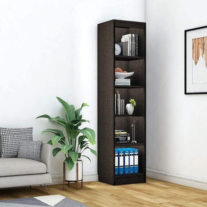 "Alpha Bookshelf & Storage Cabinet with 5 shelf, 67"" high (Tower)- Classic Wenge *Free Installation* - A10 SHOP"