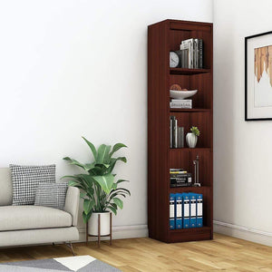 "Alpha Bookshelf & Storage Cabinet with 5 shelf, 67"" high (Tower)- Mahogany *Free Installation* Bookshelf - A10 SHOP"
