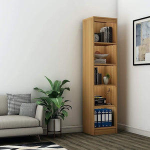 "Alpha Bookshelf & Storage Cabinet with 5 shelf, 67"" high (Tower)- Misty Oak *Free Installation* - A10 SHOP"