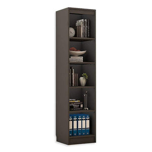"Alpha Bookshelf & Storage Cabinet with 5 shelf, 67"" high (Tower)- Slate Grey *Free Installation* Bookshelf - A10 SHOP"