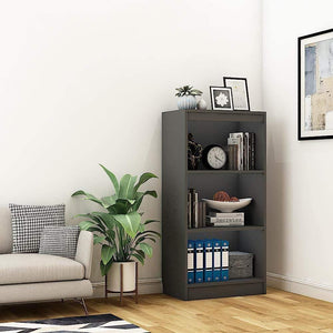 "Alpha Bookshelf with 4 shelf, 48"" high x 24"" wide - Slate Grey *Free Installation* - A10 SHOP"