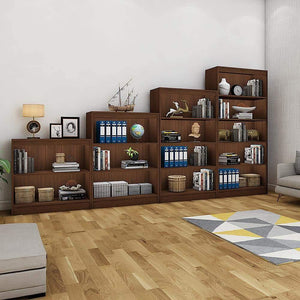 "Alpha Bookshelves & Storage Cabinets-Set of 4 (67""+54""+42""+30"")- Acacia Walnut *Free Installation* Storage Unit - A10 SHOP"