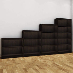 "Alpha Bookshelves & Storage Cabinets-Set of 4 (67""+54""+42""+30"") - Classic Wenge *Free Installation* - A10 SHOP"