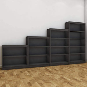 "Alpha Bookshelves & Storage Cabinets-Set of 4 (67""+54""+42""+30"")- Slate Grey *Free Installation* - A10 SHOP"