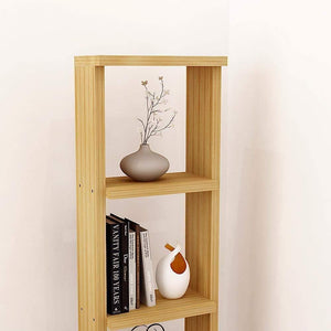 "Alpha Lite Bookshelf & Display Cabinet with 5 shelf, 54"" high -Misty Oak - A10 SHOP"