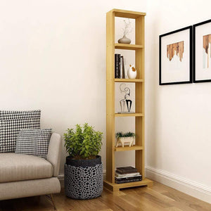 "Alpha Lite Bookshelf & Display Cabinet with 5 shelf, 54"" high -Misty Oak Storage Unit - A10 SHOP"