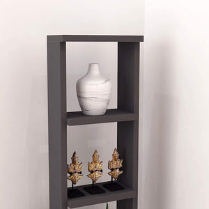 "Alpha Lite Bookshelf & Display Cabinet with 5 shelf, 54"" high - Slate Grey Bookshelf - A10 SHOP"