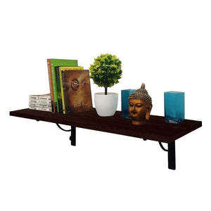Alpha Shelf X80 Wall Hanging- Decor Shelf + 2 Wall Brackets (Classic Wenge) - A10 SHOP