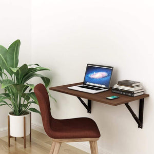 Athena F80 Wall Mounted Folding Study Table, Computer/Laptop Table (50cm x 80cm -Acacia Walnut) *Free Installation* - A10 SHOP