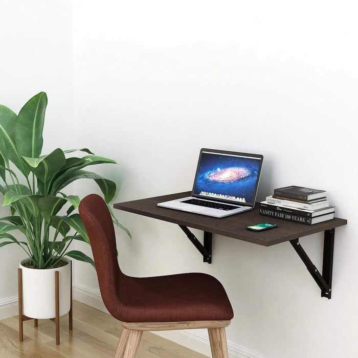 Athena F80 Wall Mounted Folding Study Table, Computer/Laptop Table (50cm x 80cm -Classic Wenge) *Free Installation*