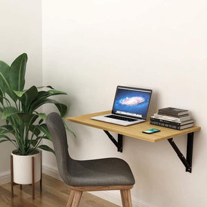Athena F80 Wall Mounted Folding Study Table, Computer/Laptop Table (50cm x 80cm -Misty Oak) *Free Installation* - A10 SHOP