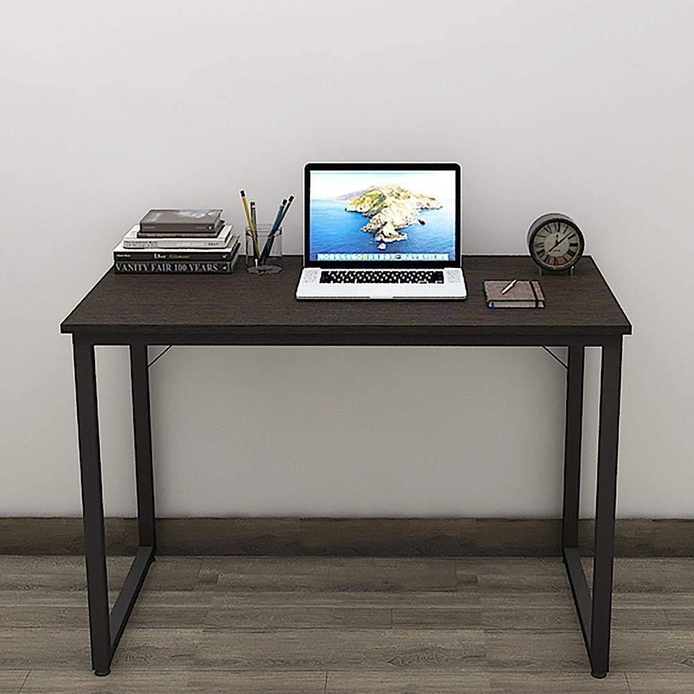 Helios T100 Modern Computer/Laptop Desk and Study Writing Table, Black Frame (100 cm x 50 cm, Classic Wenge) - A10 SHOP