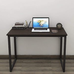 Helios T100 Modern Computer/Laptop Desk and Study Writing Table, Black Frame (100 cm x 50 cm, Classic Wenge) Tables - A10 SHOP