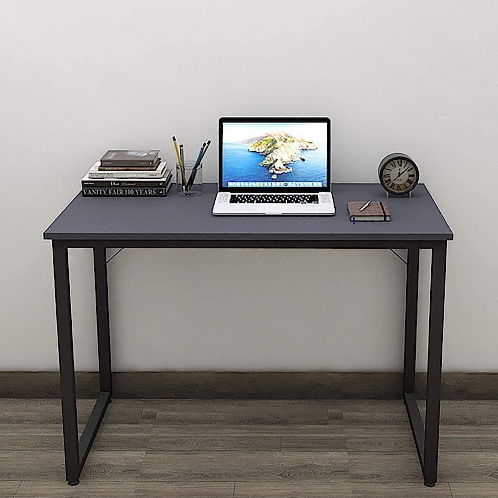 Helios T100 Modern Computer/Laptop Desk and Study Writing Table, Black Frame (100 cm x 50 cm, Slate Grey) - A10 SHOP