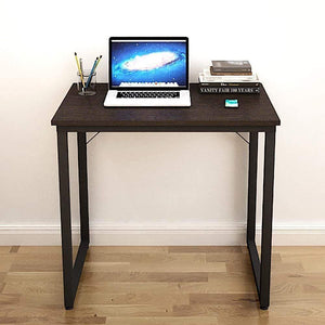 Helios T80 Modern Computer/Laptop Desk and Study Writing Table, Black Frame (80 cm x 50 cm, Classic Wenge) Tables - A10 SHOP