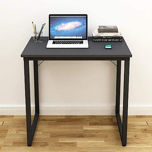 Helios T80 Modern Computer/Laptop Desk and Study Writing Table, Black Frame (80 cm x 50 cm, Slate Grey) - A10 SHOP