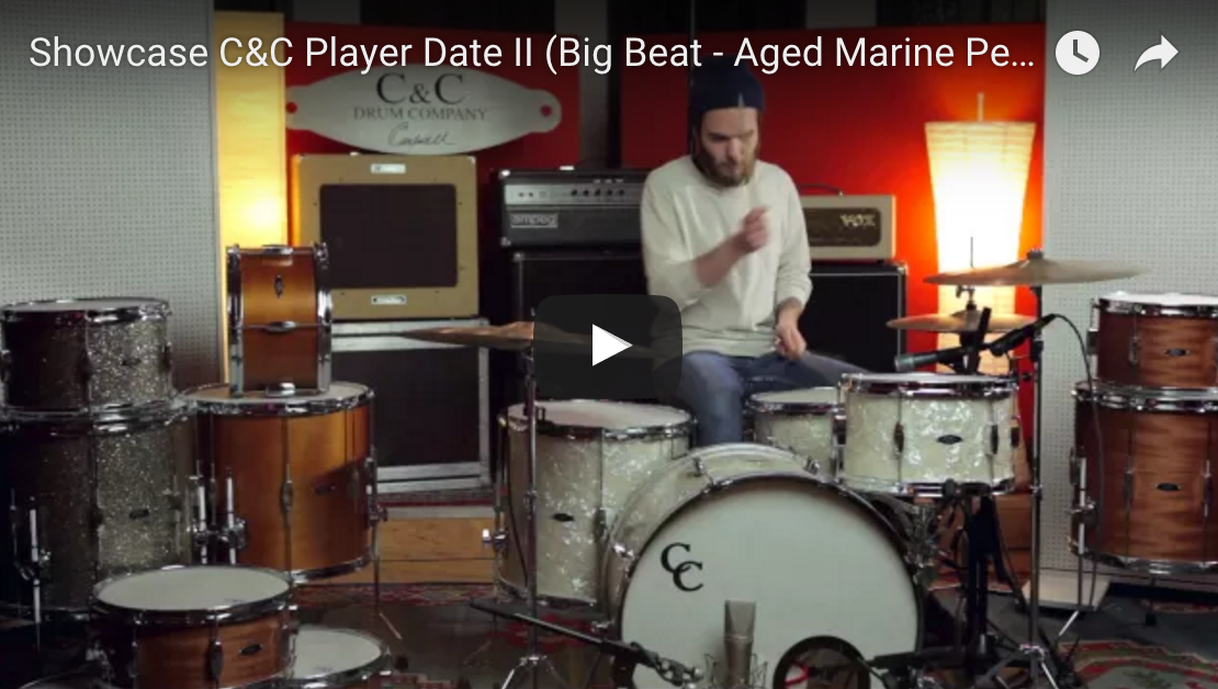 Showcase C&C Player Date II (Big Beat - Aged Marine Pearl) - C&C Drums Europe