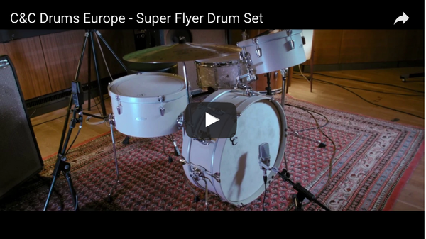 C&C Drums Europe - Super Flyer - Antique White w/Antique White Hoops