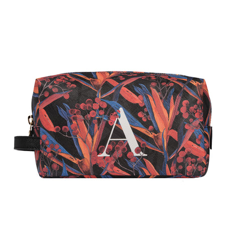 Bacio Make-up Bag in Cradle Lily Black