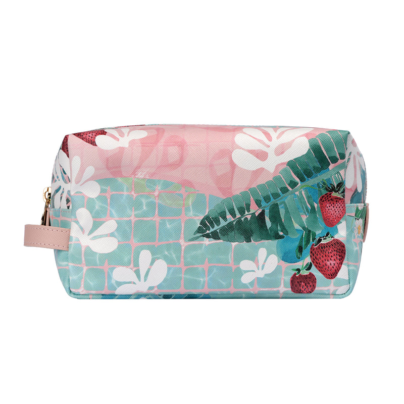 Fonfique bacio make-up wash bag seyahat makyaj çantası matise on pound çilek strawberry hediye gift