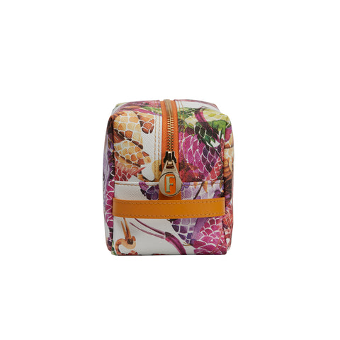 Travel Set of 2 Pouches Bonbon Birds Orange Pink