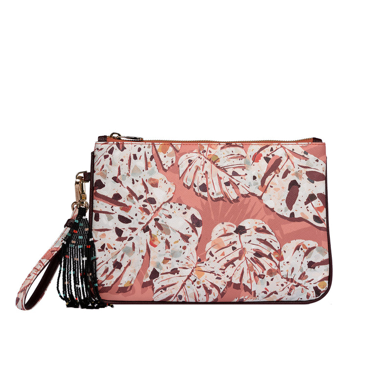 Dalida Clutch in Monstera Terra