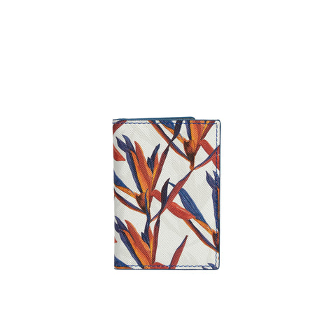 Destra Cardholder in Cradle Lily Blue - Orange