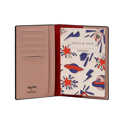 Gemma Passport Cover Galaxy White Cansu Akın X Fonfique