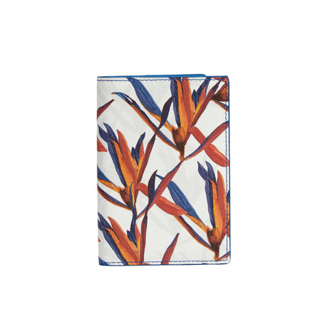 Gemma Passport Holder in Cradle Lily Blue Orange