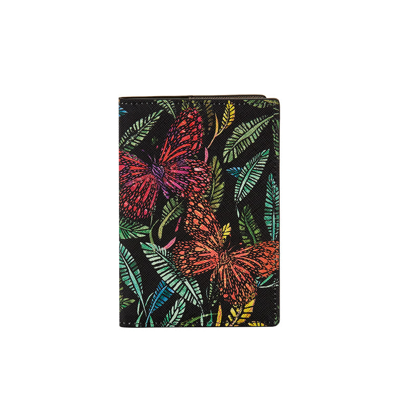 Fonfique Gemma pasaport kılıfı holder cover notebook pasaportluk botanik colorful kelebek butterfly yeşil green hediye gift