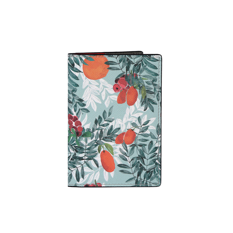 Fonfique gemma pasaport holder cover pasaport kılıfı citrus yeşil green turuncu orange hediye gift