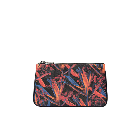 Fonfique Lily mini poşet lily mini clutch para çantası money bag cradle lily black zambak siyah hediye gift