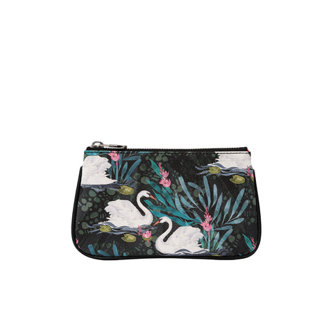 Fonfique Lily mini poşet lily mini clutch para çantası money bag kuğu swan hediye gift