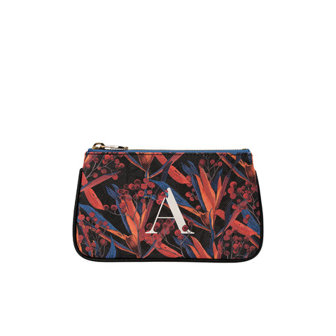 Fonfique Lily mini poşet lily mini clutch para çantası money bag zambak siyah cradle lily black monogram hediye gift