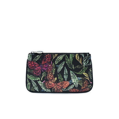 fonfique lily mini poşet para cüzdanı mini clutch money  bag botanik botanical kelebek butterfly hediye gift