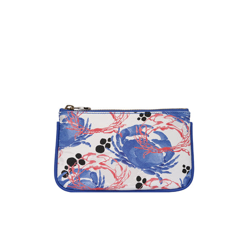 Fonfique Lily mini poşet lily mini clutch para çantası money bag Yengeç mavi crabs blue hediye gift