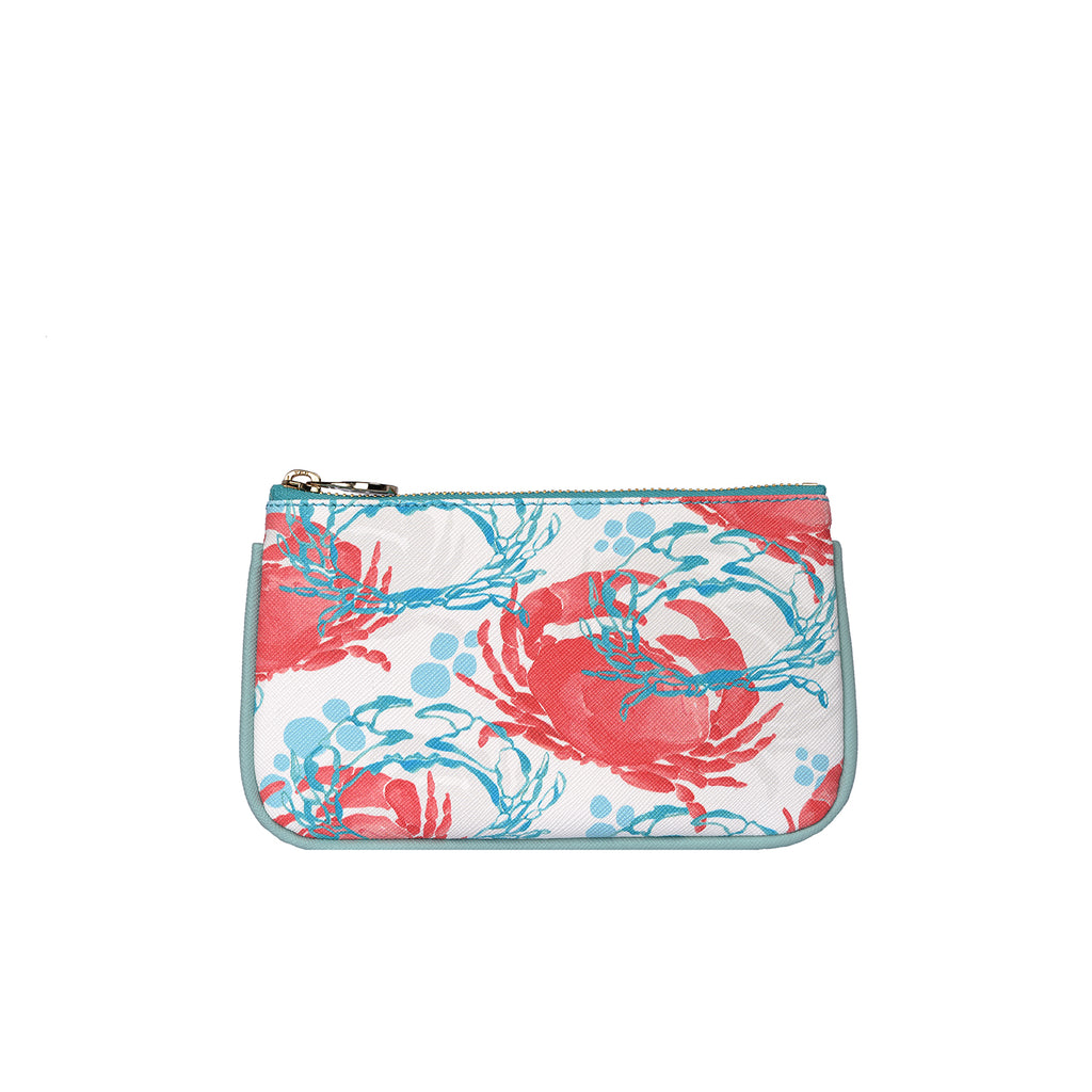 Lily Mini Clutch in Crabs Coral
