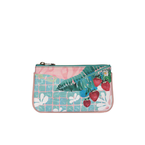 Fonfique Lily mini poşet lily mini clutch para çantası money bag  çilek strawberry pembe pink summer yazlık hediye gift
