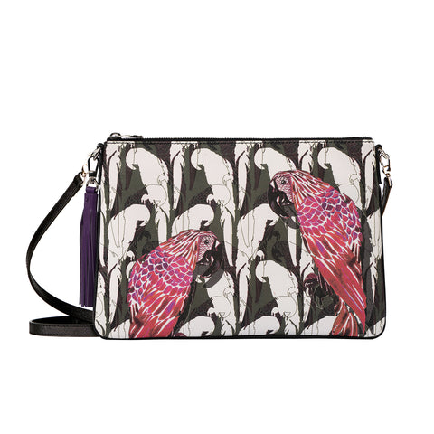 Merita Clutch in Camo Parrot