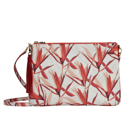 Merita Clutch in Cradle Lily Pink Orange