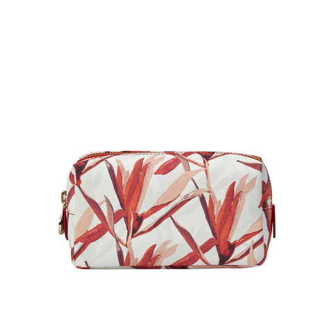Mini Bacio Make-up Bag in Cradle Lily Pink - Orange