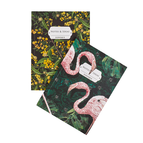 Journal Set of Mimosa and Flamingo