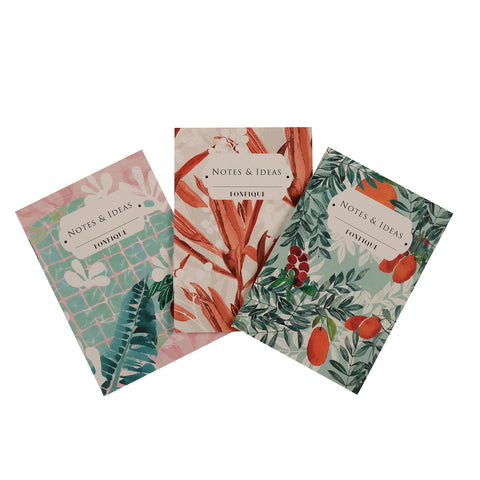 Fobfique 3 lü defter set notebook set of 3 zambak - citrus- çillek cradle lily citrus strawberry hediye gift