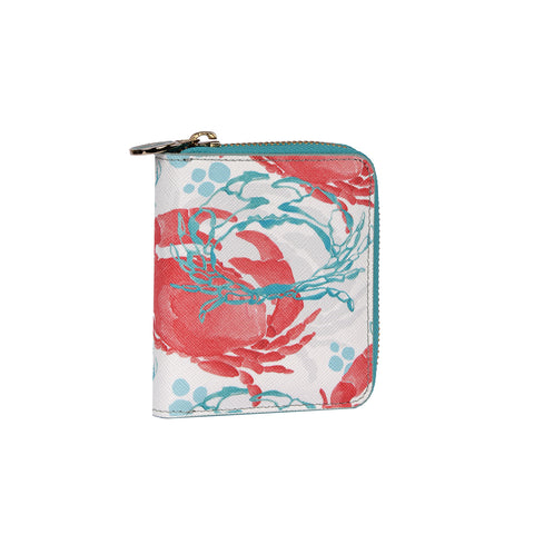 Ruby Wallet in Crabs Coral