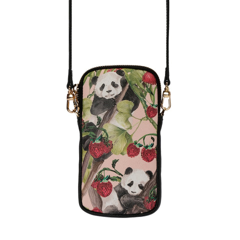 Fonfique Stella Telefon Çantası Phone Bag  Panda Berry Çilekli Panda Strawberry Çilek Yaz Summer  Hediye Gift