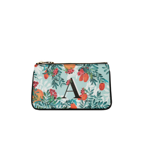 fonfique lily mini poşet para cüzdanı mini clutch money  bag  citrus monogram narenciye turuncgil hediye gift