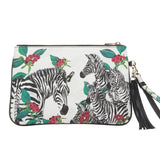 Dalida Clutch in Zebra