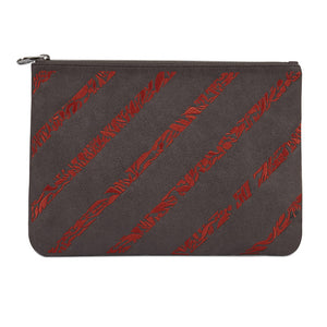Maia Clutch in Anthracite-Orange - Fonfique