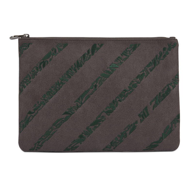 Maia Clutch in Anthracite-Green